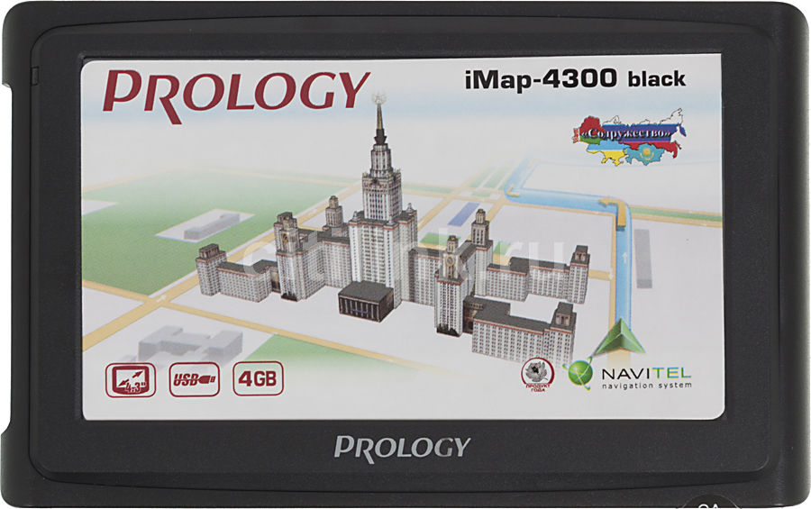 GPS навигатор PROLOGY iMAP-4300,  4.3