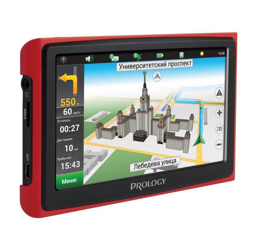GPS навигатор PROLOGY iMAP-4300, черный/красный,  4.3