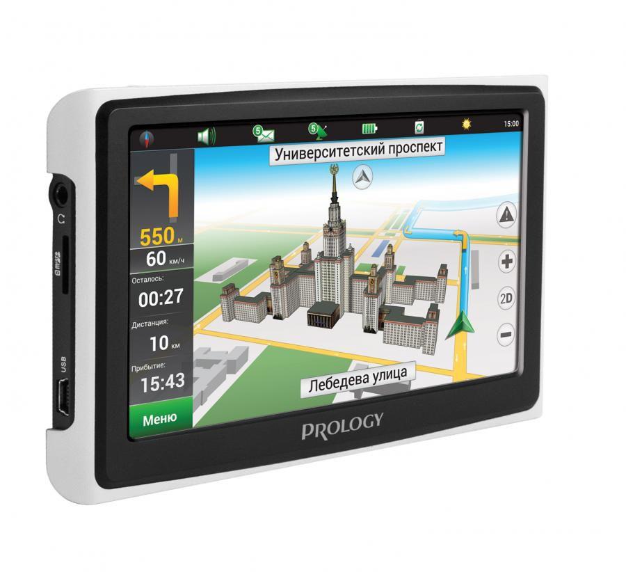 GPS навигатор PROLOGY iMAP-4300, черный/белый,  4.3