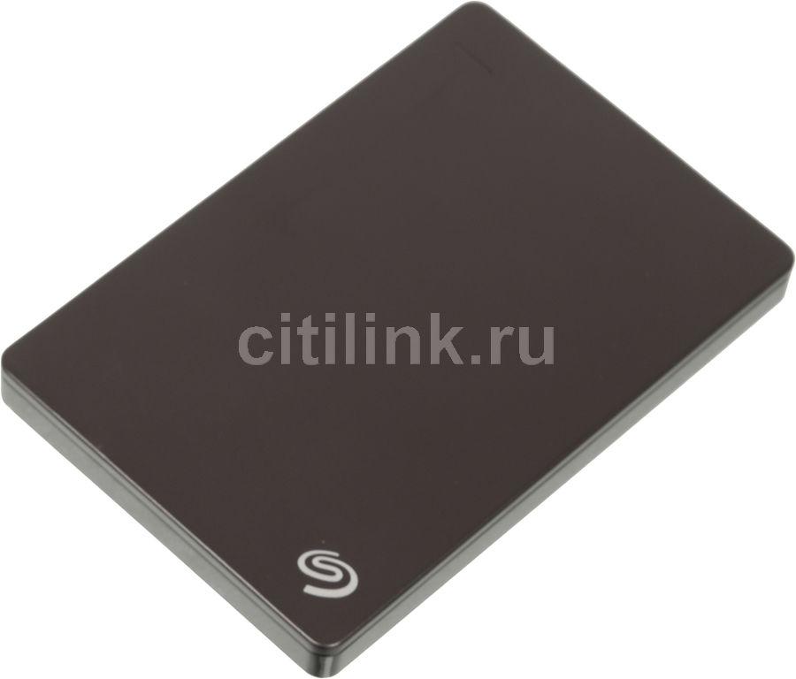 Внешний жесткий диск SEAGATE Backup Plus Slim STDR1000200, 1Тб, черный