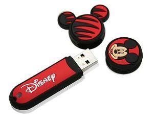 Флешка USB A-DATA Disney Mickey 8Гб, USB2.0, красный и рисунок [rb18]
