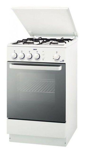 Газовая плита ZANUSSI ZCG951001W,  газовая духовка,  белый