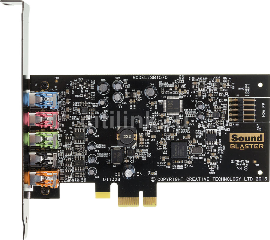 Звуковая карта PCI-E CREATIVE Audigy FX,  5.1, Ret [70sb157000000]