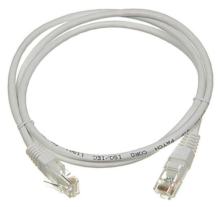 Патч-корд LANMASTER LAN-45-45-1.5-WH UTP, cat.5E, 1.5м, 1 шт,  белый