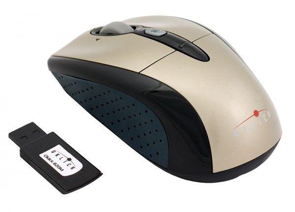 Мышь OKLICK 820M оптическая беспроводная USB, золотистый и черный