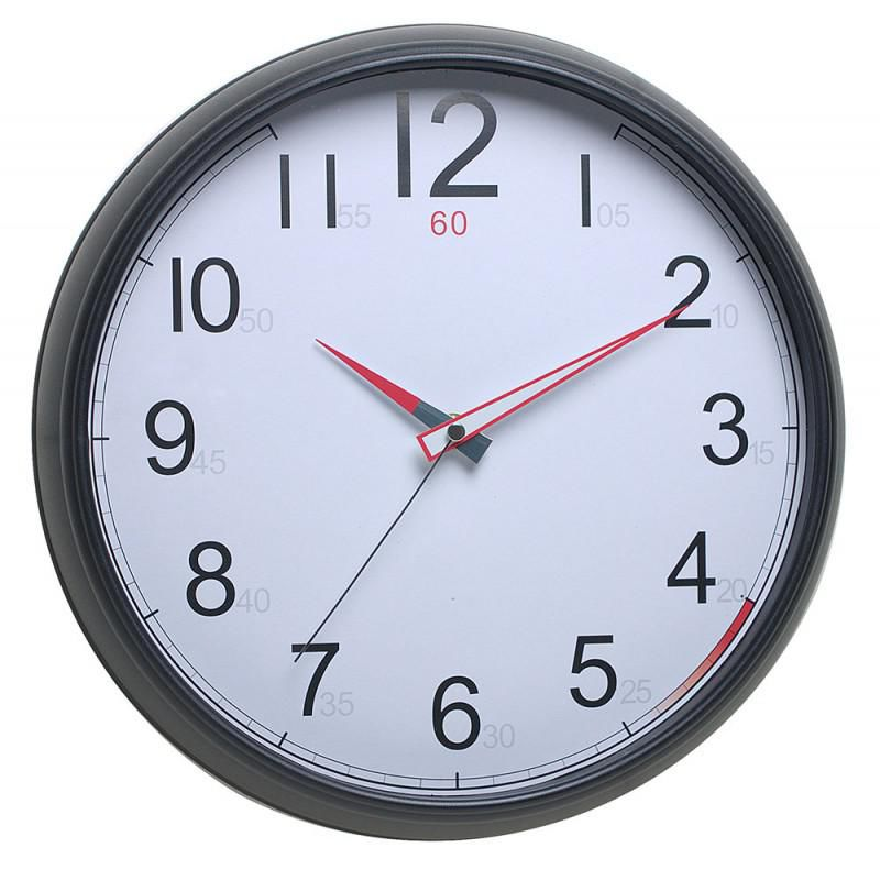 Настенные часы БЮРОКРАТ WallC-R08P, аналоговые,  черный