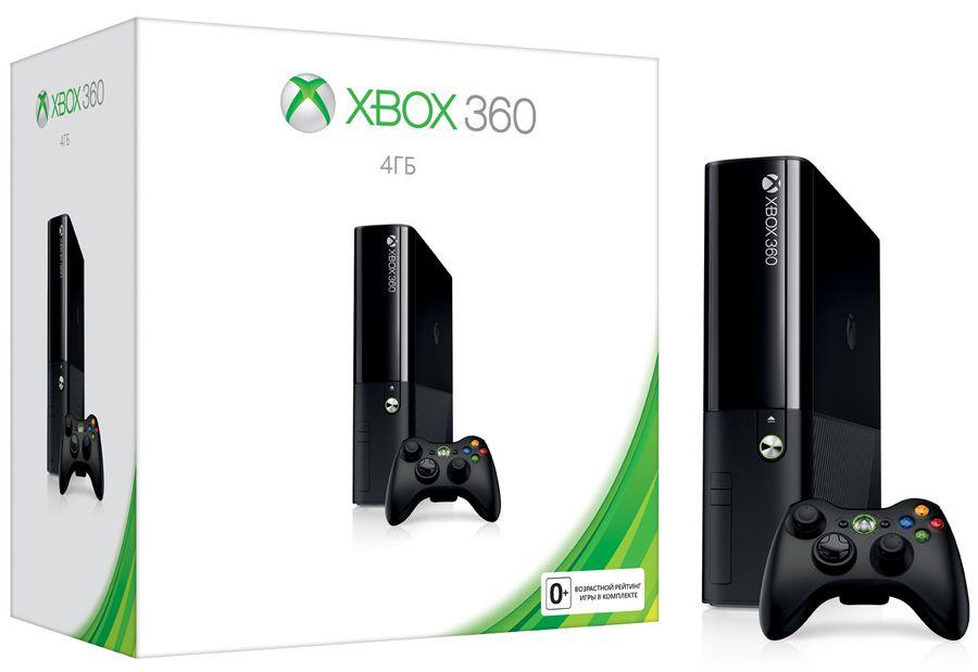 Игровая консоль MICROSOFT Xbox 360 E L9V-00012, черный