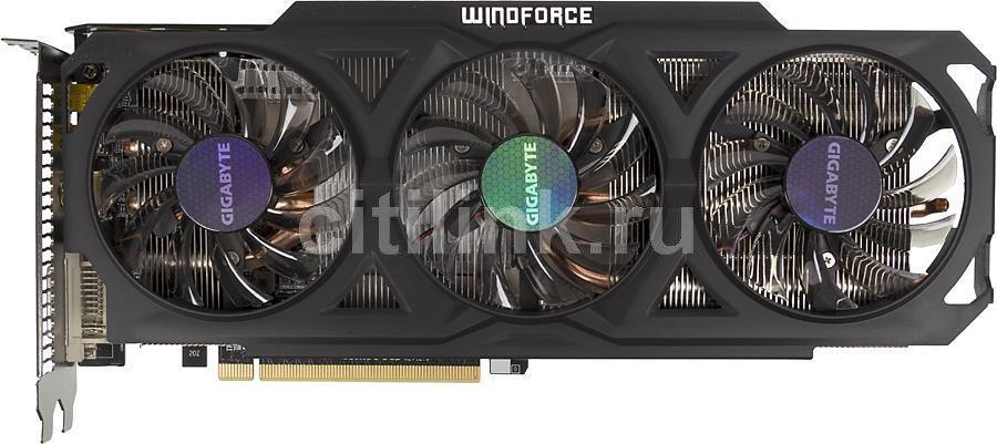 Видеокарта GIGABYTE AMD  Radeon R9 280X ,  GV-R928XOC-3GD,  3Гб, GDDR5, OC,  Ret