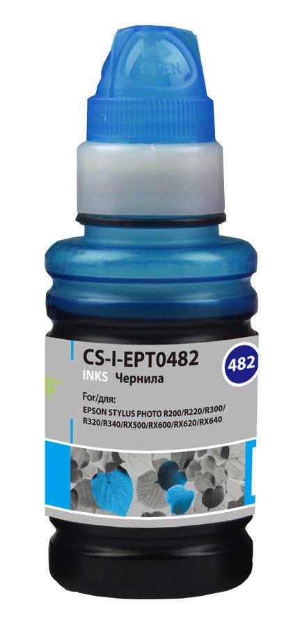 Чернила CACTUS CS-I-EPT0482, для Epson, 100мл, голубой