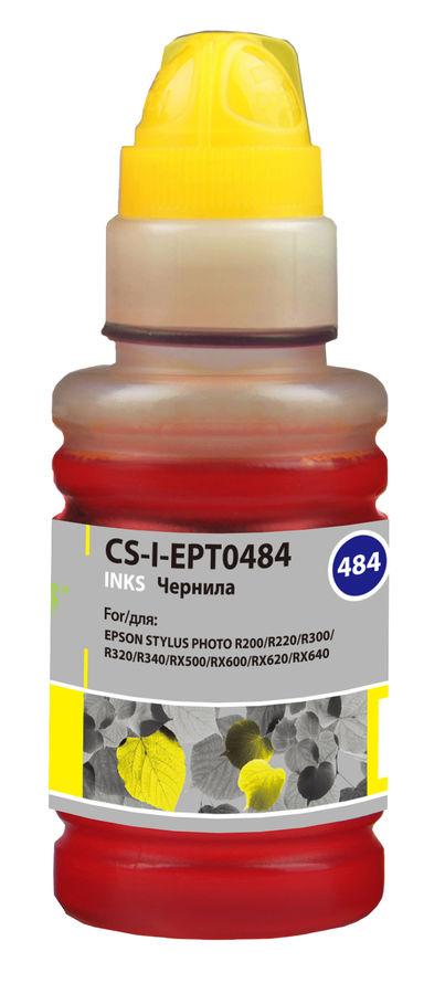 Чернила CACTUS CS-I-EPT0484, для Epson, 100мл, желтый
