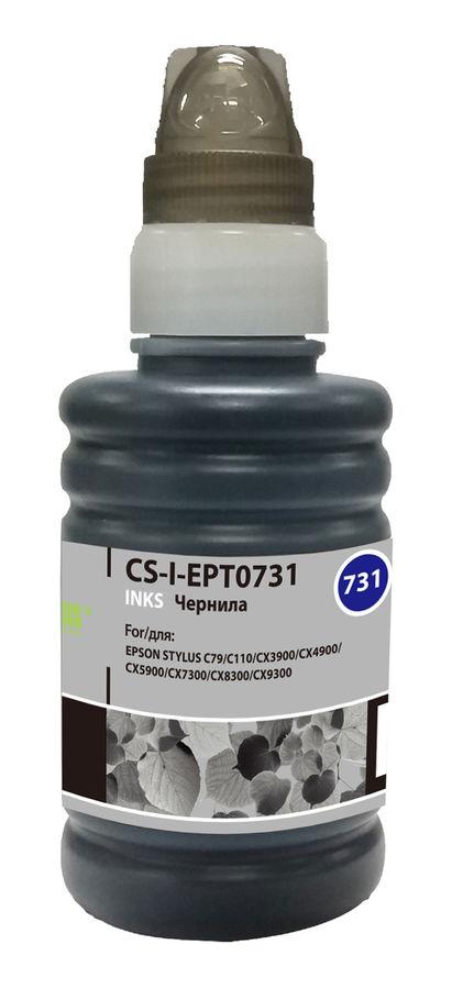 Чернила CACTUS CS-I-EPT0731, для Epson, 100мл, черный