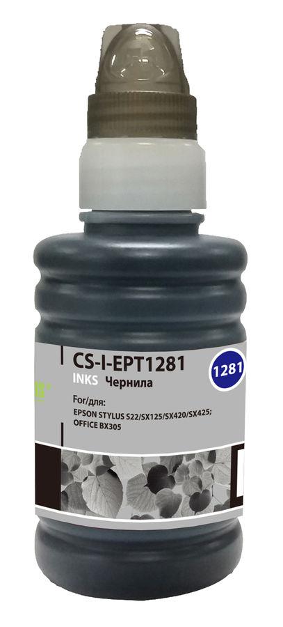 Чернила CACTUS CS-I-EPT1281, для Epson, 100мл, черный