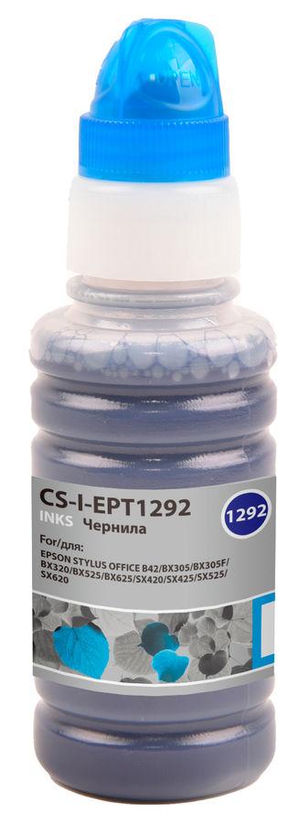 Чернила CACTUS CS-I-EPT1292, для Epson, 100мл, голубой