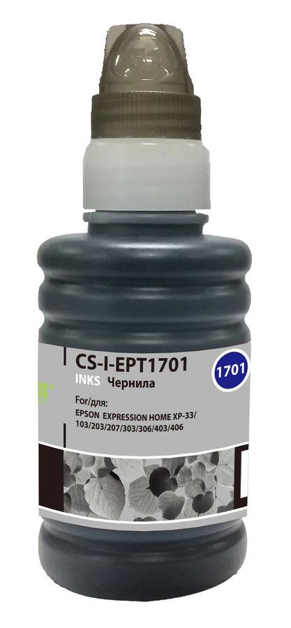 Чернила CACTUS CS-I-EPT1701, для Epson, 100мл, черный