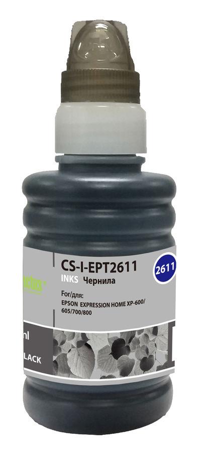 Чернила CACTUS CS-I-EPT2611, для Epson, 100мл, фото черный