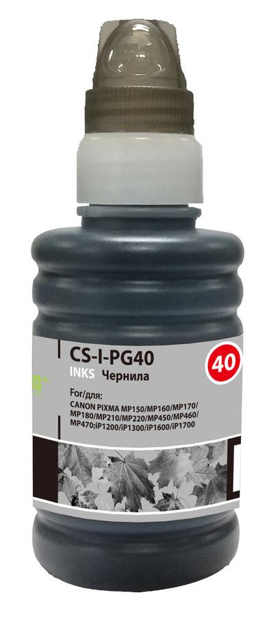 Чернила CACTUS CS-I-PG40, для Canon, 100мл, черный