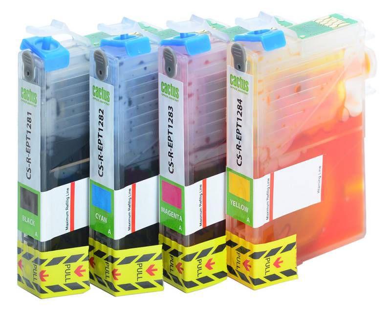 Набор картриджей CACTUS CS-R-EPT0925 черный / голубой / пурпурный / желтый