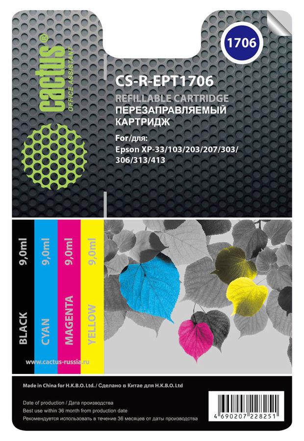 Заправочный комплект CACTUS CS-R-EPT1706, для Epson, многоцветный