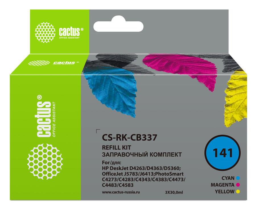 Заправочный комплект CACTUS CS-RK-CB337, для HP, 30мл, многоцветный
