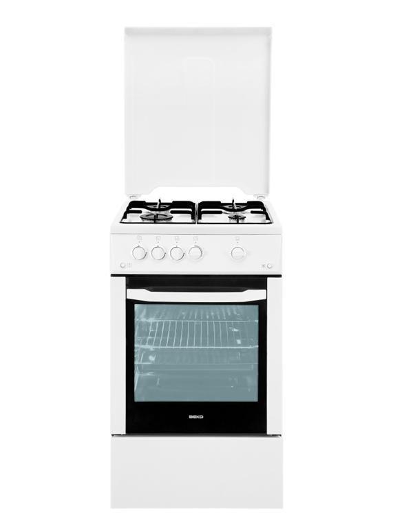 Газовая плита BEKO CSG 52010 W,  газовая духовка,  белый