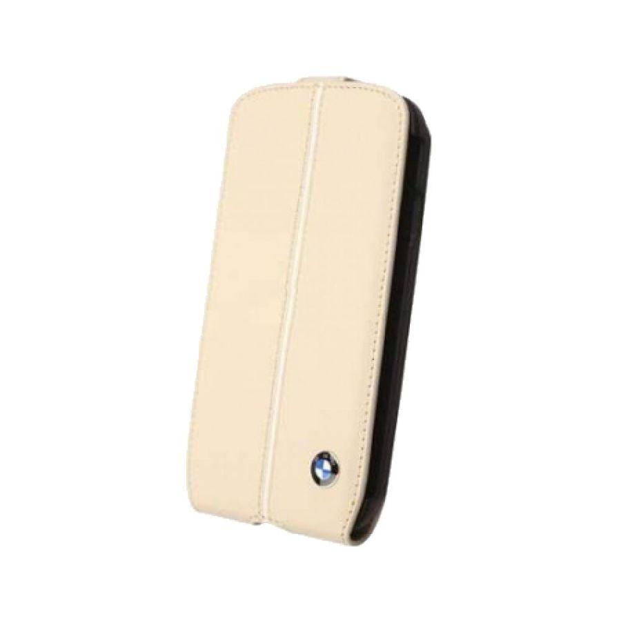 Чехол (флип-кейс)  BMW Signature Flip, для Samsung Galaxy S4, кремовый [bmfls4lc]