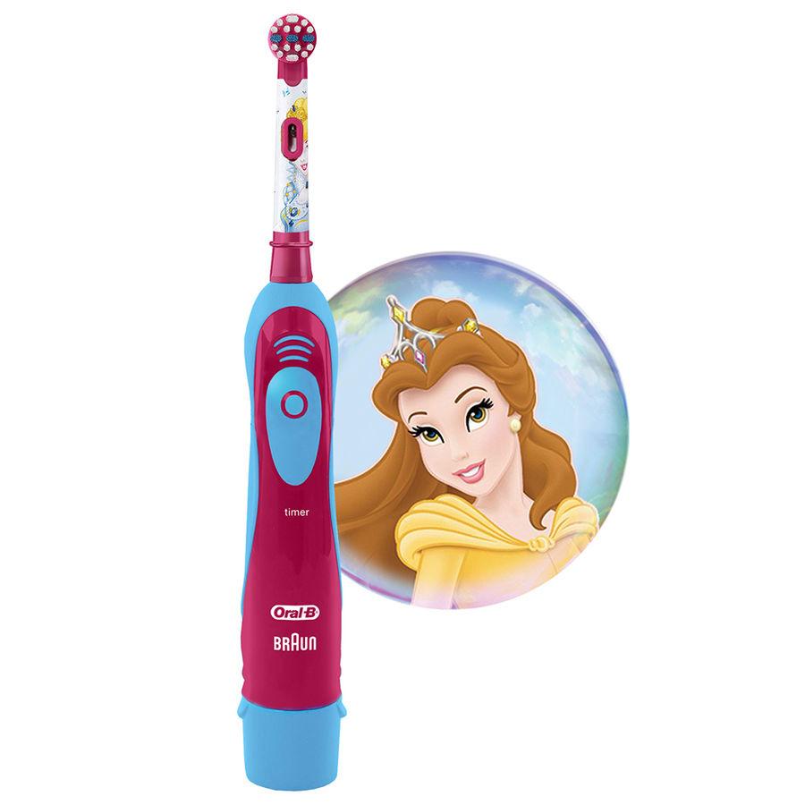 Электрическая зубная щетка ORAL-B детская CARS/Princess на батарейках розовый