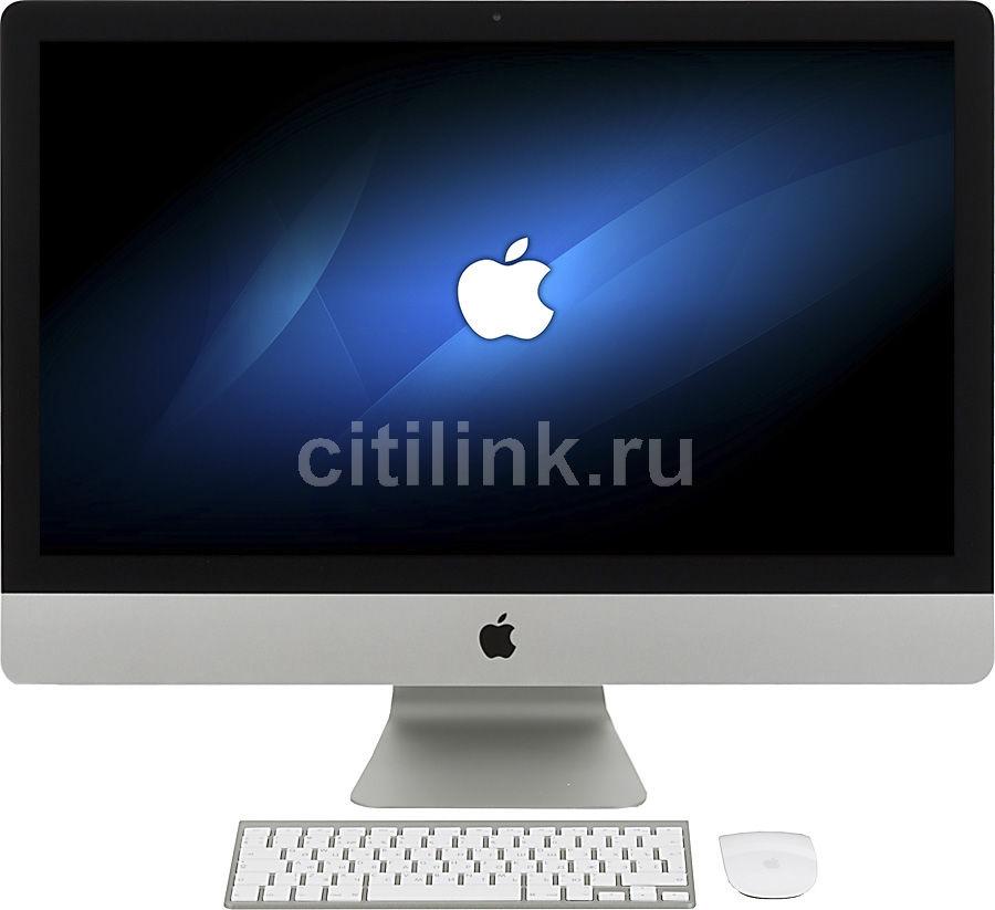 Моноблок APPLE iMac ME089RU/A, Intel Core i5 4670, 8Гб, 1000Гб, nVIDIA GeForce GTX 775M - 2048 Мб, Mac OS X, серебристый и черный