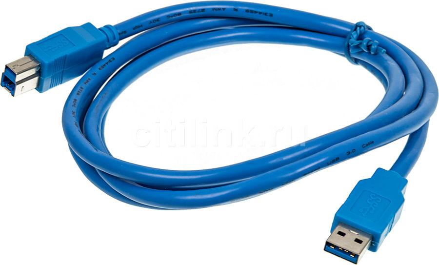 Кабель USB3.0 NINGBO USB A (m) -  USB B (m),  1.8м,  синий
