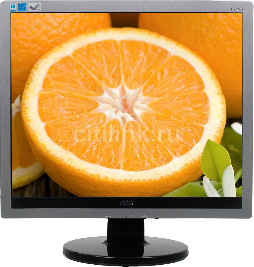 """Монитор ЖК AOC Professional e719sd/01 17"""", серебристый и черный"""