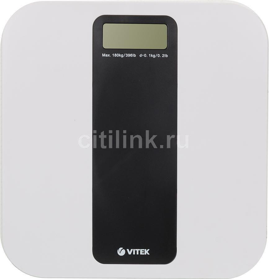 Напольные весы VITEK VT-1986 BW, до 180кг, цвет: белый/черный [1986-vt-01-bw]