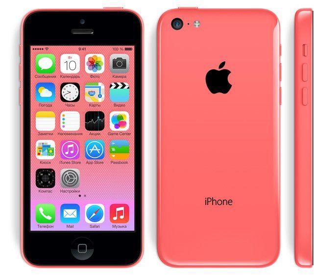 Смартфон APPLE iPhone 5c MF325ZP/A  16Gb, розовый