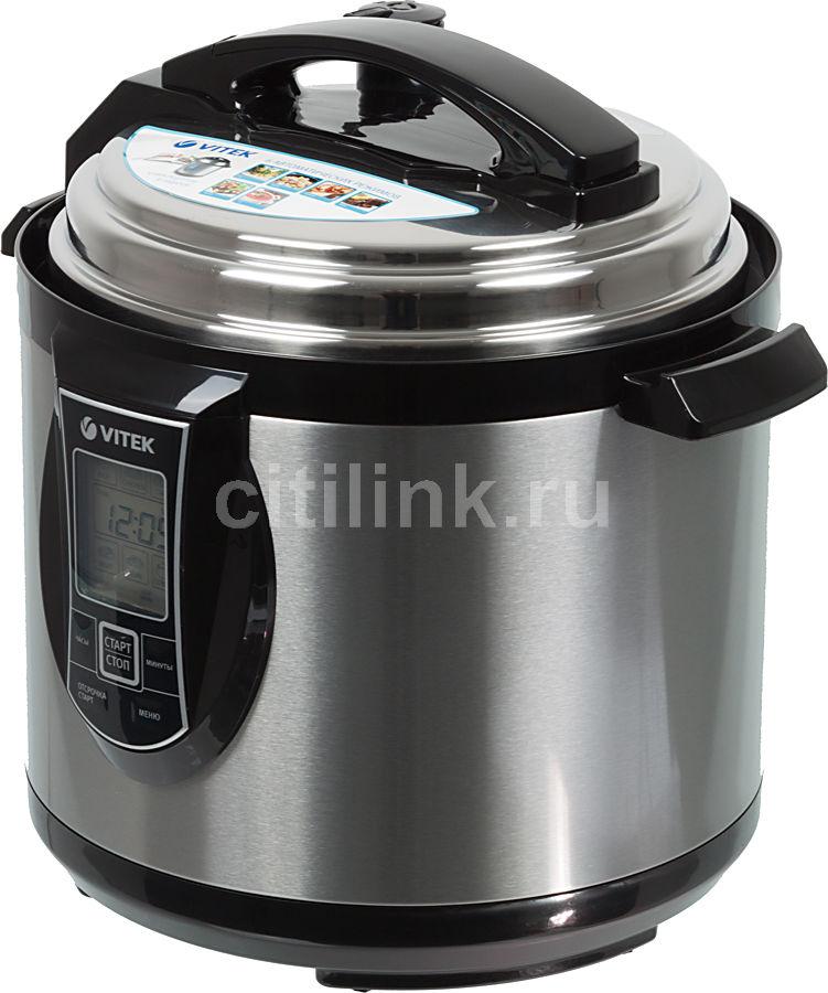 Мультиварка-скороварка VITEK VT-4201,  1190Вт,   серебристый/черный [4201-vt-01]