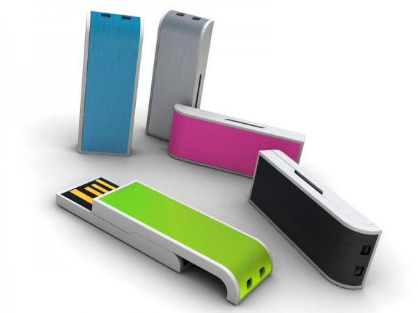 Флешка USB DIGMA Slyd 2Гб, USB2.0, красный и белый