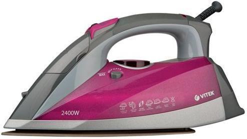 Утюг VITEK VT-1202 PP,  2400Вт,  розовый [1202-vt-02-pp]