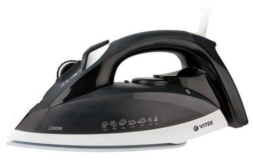 Утюг VITEK VT-1214,  2200Вт,  черный/ белый [1214-vt-02-bw]