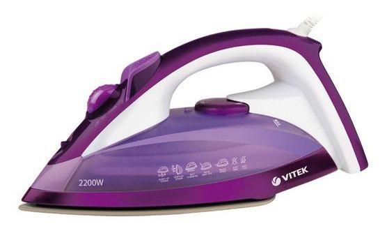 Утюг VITEK VT-1219,  2200Вт,  фиолетовый [1219-vt-02]