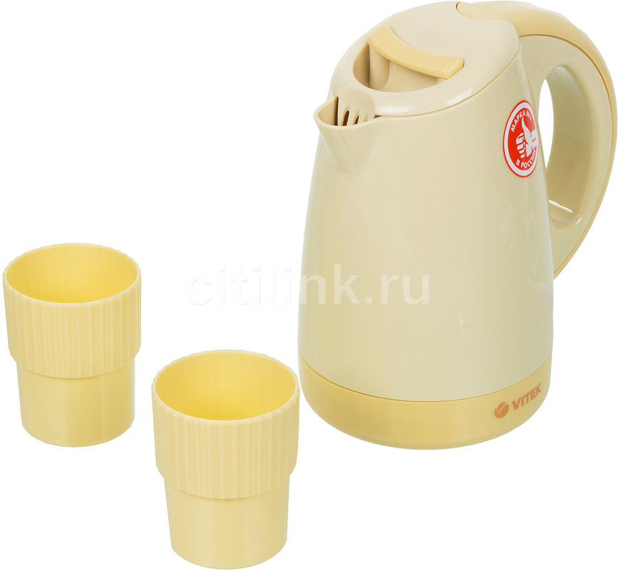 Чайник электрический VITEK VT-1134-01-Y, 1000Вт, желтый