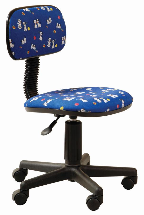 Кресло БЮРОКРАТ CH-201NX, на колесиках, ткань, синий [ch-201nx/dogs-bl]