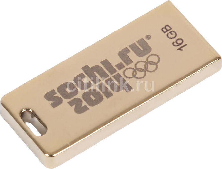 Флешка USB TRANSCEND Jetflash FD-16GB/SOCHI 16Гб, USB2.0, золотистый [ts16gjft3g]