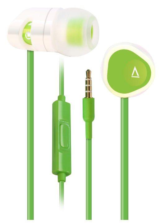 Наушники с микрофоном CREATIVE MA200,  51EF0600AA008,  вкладыши, зеленый
