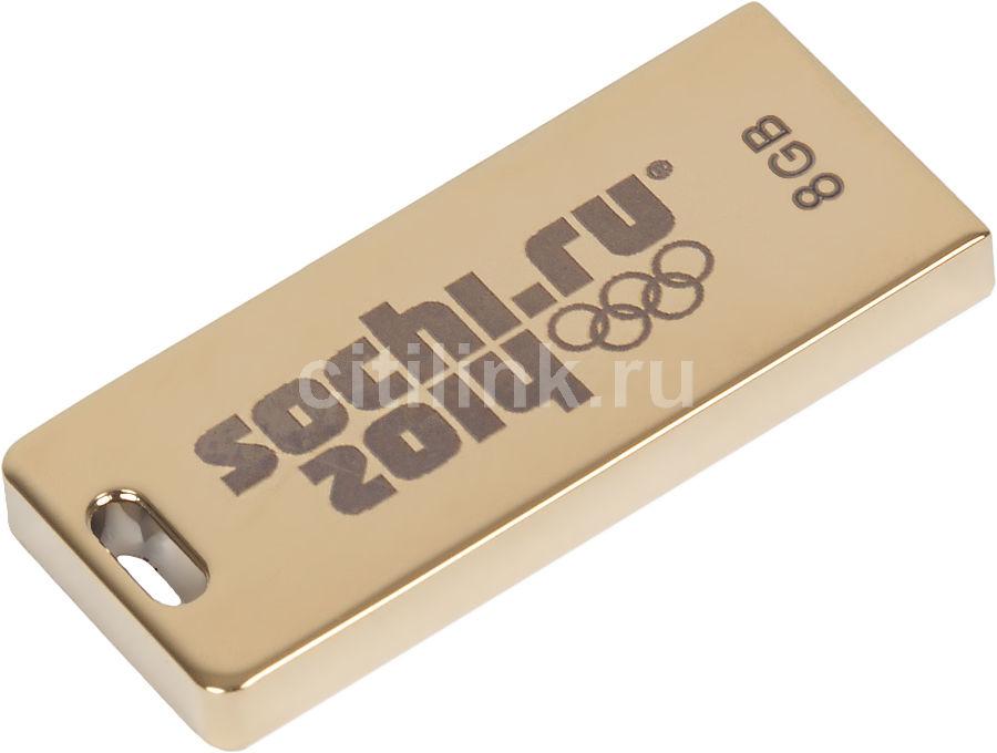 Флешка USB TRANSCEND Jetflash FD-8GB/SOCHI/BOX 8Гб, USB2.0, золотистый [ts8gjft3g]