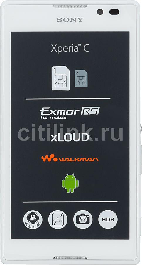 Смартфон SONY Xperia C C2305  белый
