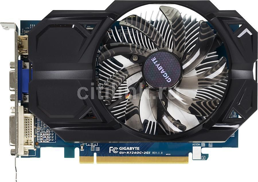 Видеокарта GIGABYTE AMD Radeon R7 240 , GV-R724OC-2GI, 2Гб, DDR3, Ret other 100ml