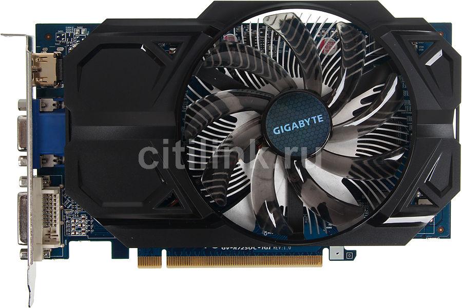 Видеокарта GIGABYTE Radeon R7 250,  1Гб, GDDR5, Ret [gv-r725oc-1gi]