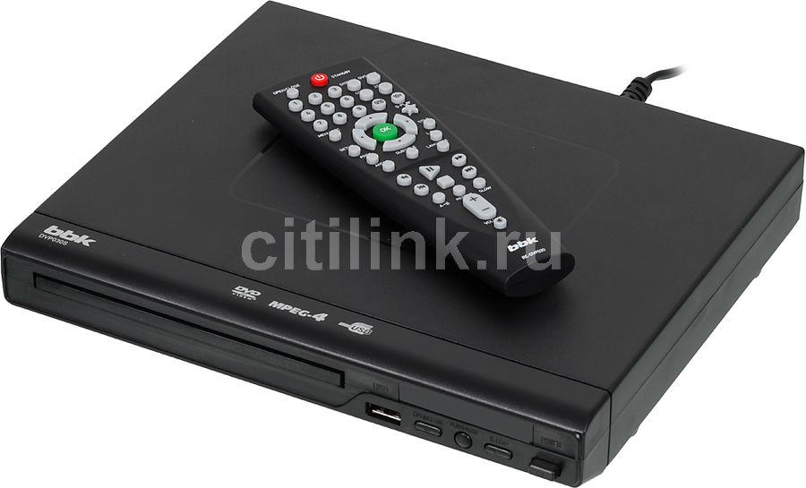 DVD-плеер BBK DVP030S,  черный [(dvd) player dvp030s б/д чер]