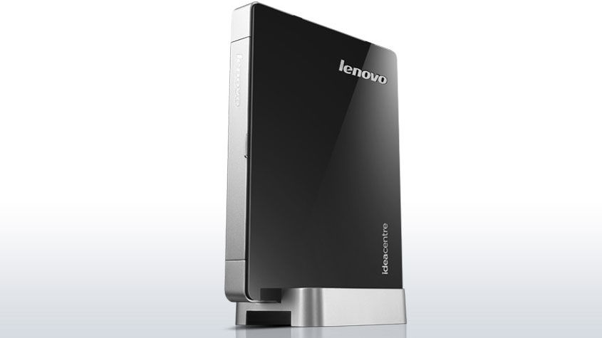 Неттоп  LENOVO IdeaCentre Q190,  Intel  Core i3  3217U,  DDR3 4Гб, 500Гб,  Intel HD Graphics 4000,  CR,  Windows 8 Professional,  черный и серебристый [57321150]