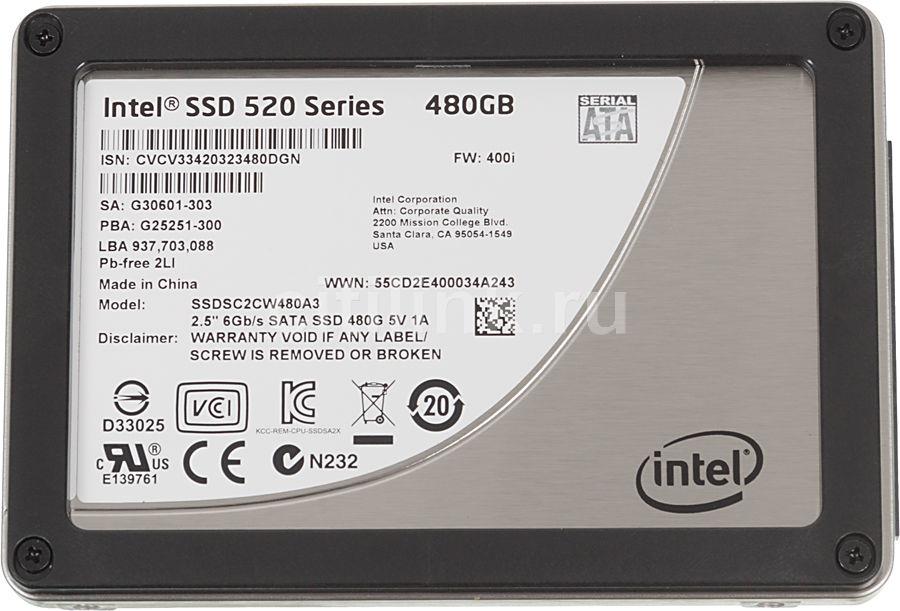 SSD накопитель INTEL 520 Series SSDSC2CW480A310 480Гб, 2.5