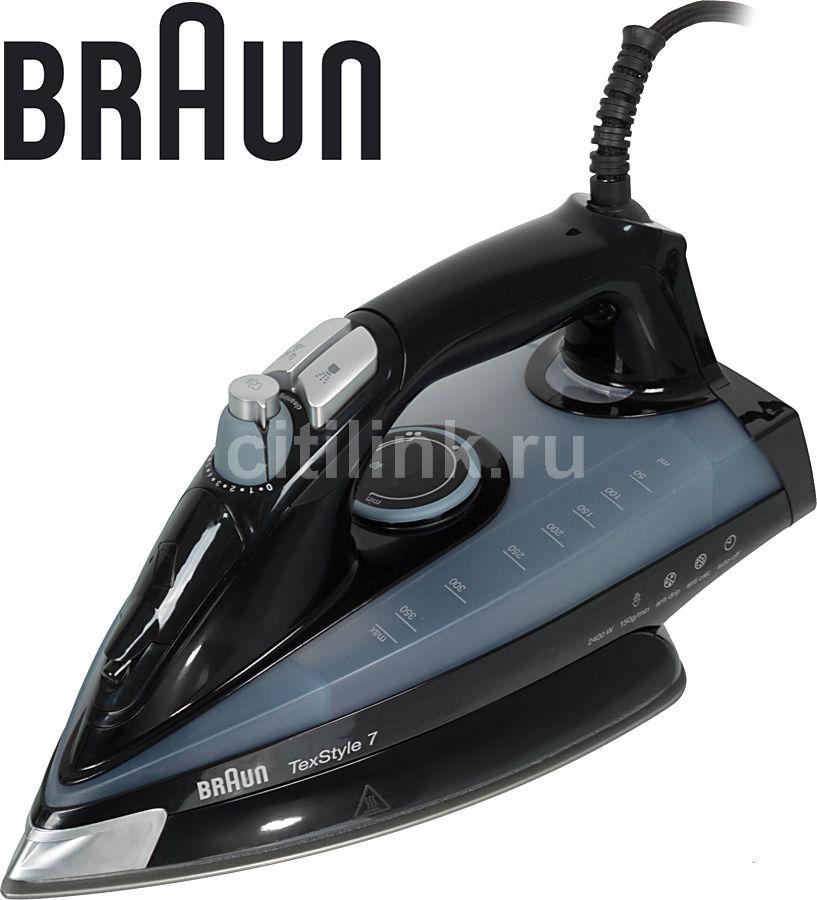 Утюг BRAUN TS745A,  2400Вт,  черный