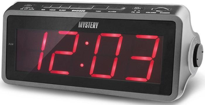 Радиобудильник MYSTERY MCR-60, красная подсветка,  красный
