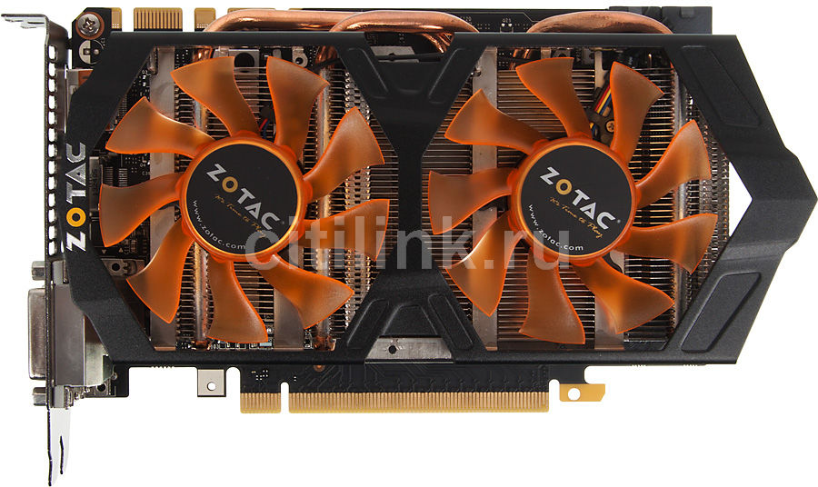Видеокарта ZOTAC GeForce GTX 760 OC,  ZT-70405-10P,  2Гб, GDDR5, OC,  Ret